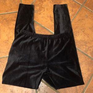 Xhilaration black velvet leggings size medium